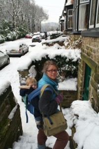 snow bound babywearing