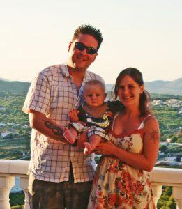 family in spain sunny